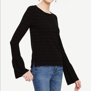 Ann Taylor Black Bell Sleeve Sweater NWT Medium